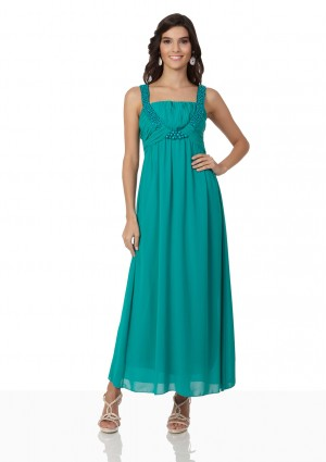 Chiffon-Abendkleid in Türkis mit Perlenbesatz - <br /> <b>Notice</b>:  Undefined index: altTail in <b>/home/vipdress/public_html/tools/smarty/compile/3a21d04bf1b909ed03be781795539a91ac65494e.file.product.tpl.php</b> on line <b>264</b><br />