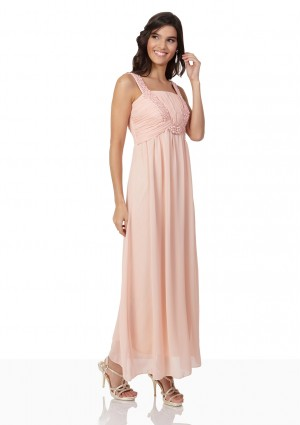 Perlenbesetztes Abendkleid aus Chiffon in Rosé - schnell und günstig bei VIP Dress