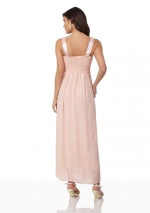 Perlenbesetztes Abendkleid aus Chiffon in Rosé - günstig bestellen bei VIP Dress