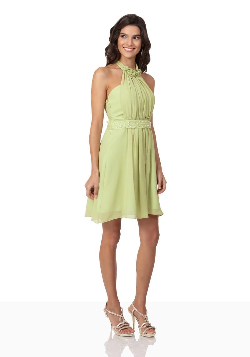 Sommerliches Abendkleid aus Chiffon ☆ in einem hellen Lindgrün ☆