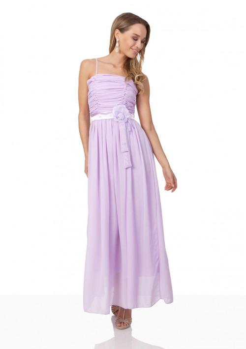 Chiffon-Abendkleid in Flieder mit aparter Raffung - bei VIP Dress online bestellen