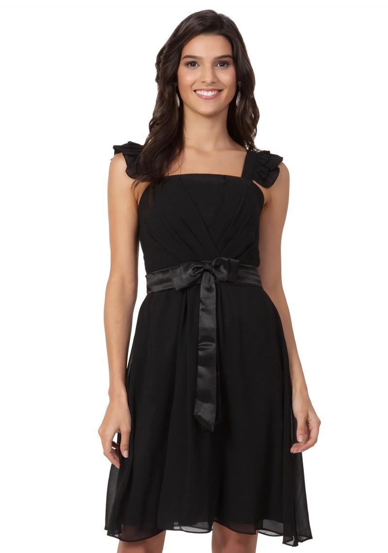 Abendkleid Schwarz mit Schleife ✮ online bestellen ✿ 2aeb5f55f8