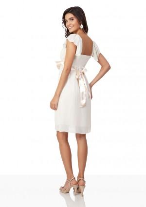 Chiffon-Cocktailkleid in Beige im verspielten Design - günstig bei VIP Dress