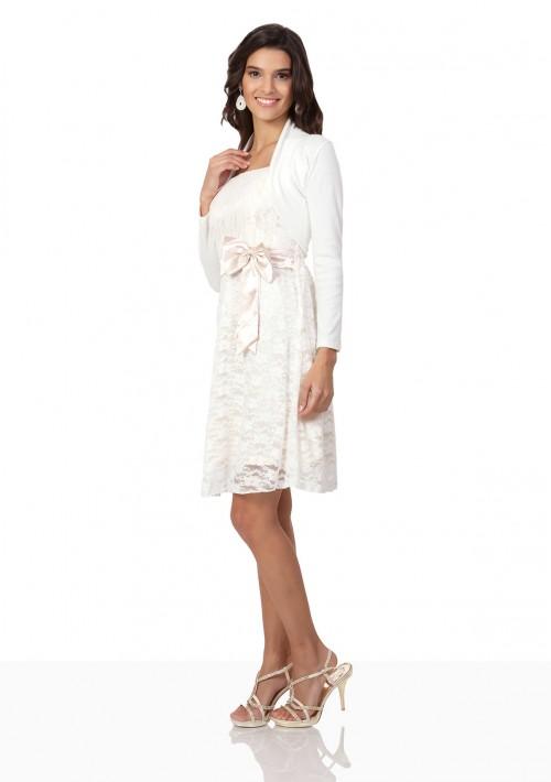 Bolero in Weiß mit langem Arm - günstig kaufen bei vipdress.de