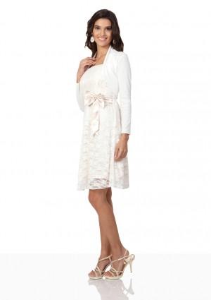 Bolero in Weiß mit langem Arm - bei VIP Dress günstig kaufen