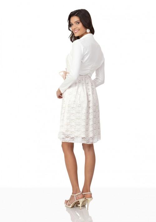Bolero in Weiß mit langem Arm - bei vipdress.de günstig shoppen