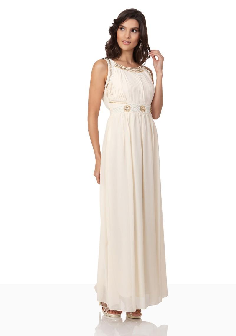langes chiffonkleid im eleganten beige shoppin bei vip dress. Black Bedroom Furniture Sets. Home Design Ideas