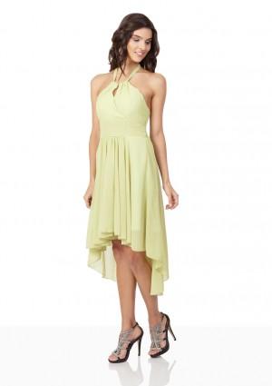 Lindgrünes Cocktailkleid mit Triangle-Top und Vokuhilaschnitt - bei VIP Dress günstig kaufen