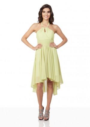 Lindgrünes Cocktailkleid mit Triangle-Top und Vokuhilaschnitt - schnell und günstig bei VIP Dress