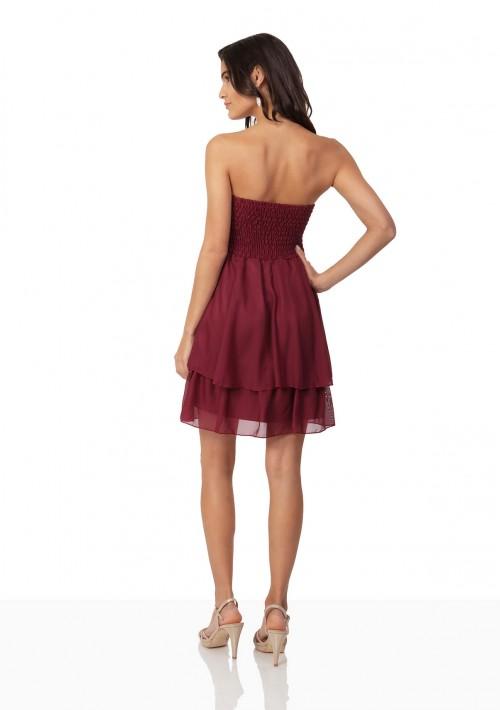 Rotes Cocktailkleid aus edlem Chiffon - bei vipdress.de günstig shoppen