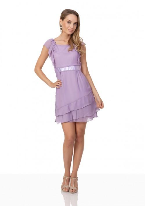 Vintage Abendkleid aus Chiffon in zartem Lila - bei vipdress.de günstig shoppen