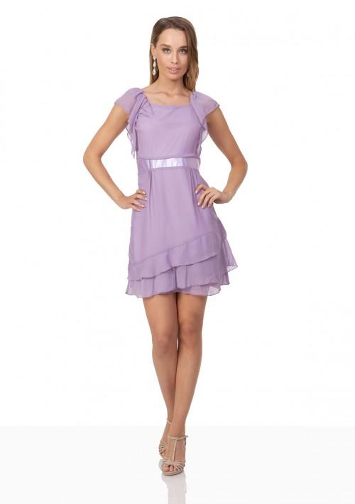 Vintage Abendkleid aus Chiffon in zartem Lila - günstig bei VIP Dress
