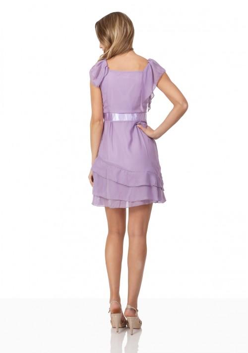 Vintage Abendkleid aus Chiffon in zartem Lila - günstig bestellen bei VIP Dress
