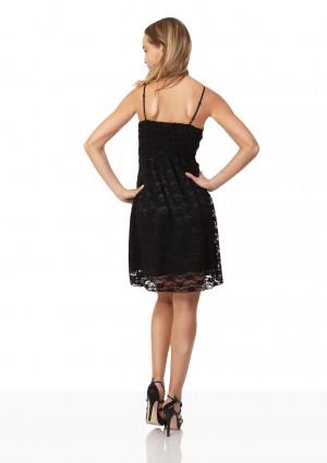 Cocktailkleid in Schwarz mit Spitze und Schleifchen - bei VIP Dress online bestellen