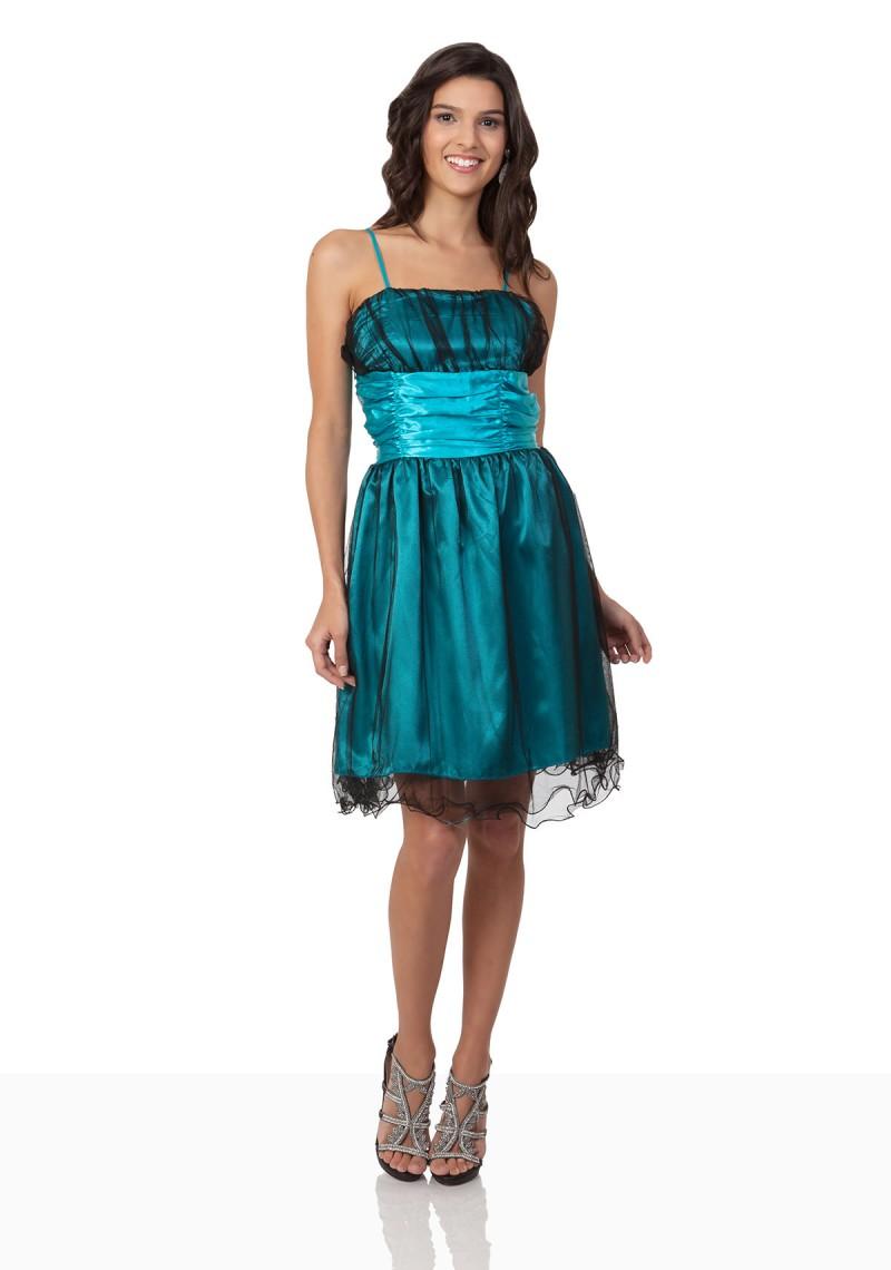 Abiballkleid mit Schleife in Blau günstig online kaufen ✿