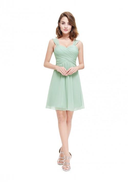 Chiffon Brautjungfernkleid in Mint Grün - günstig bestellen bei VIP Dress