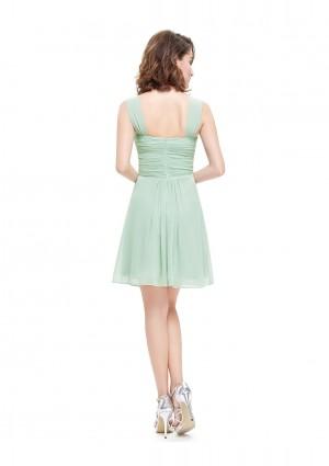 Chiffon Brautjungfernkleid in Mint Grün - schnell und günstig bei VIP Dress