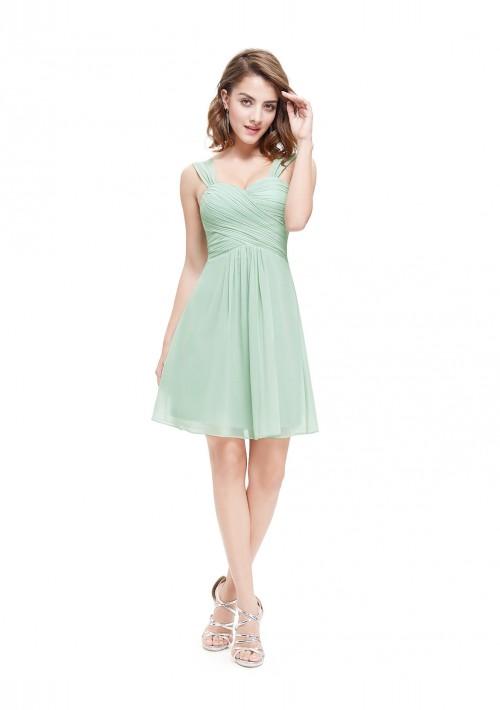 Chiffon Brautjungfernkleid in Mint Grün - online bestellen bei vipdress.de