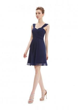 Elegantes Brautjungfernkleid in Navy Blau - günstig kaufen bei vipdress.de