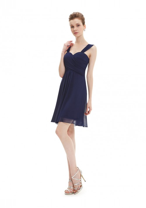 Elegantes Brautjungfernkleid in Navy Blau - hier günstig online bestellen