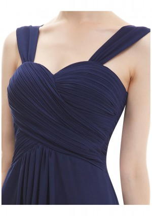 Elegantes Brautjungfernkleid in Navy Blau - bei VIP Dress online bestellen