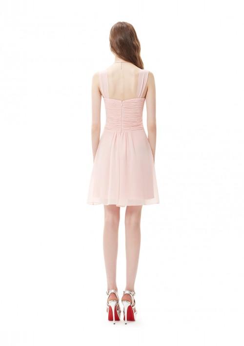 Kurzes Brautjungfernkleid in Rosa - online bestellen bei vipdress.de