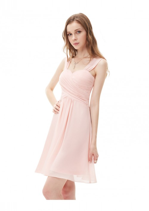 Kurzes Brautjungfernkleid in Rosa - günstig bestellen bei VIP Dress