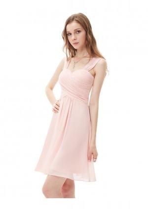 Kurzes Brautjungfernkleid in Rosa - bei VIP Dress online bestellen