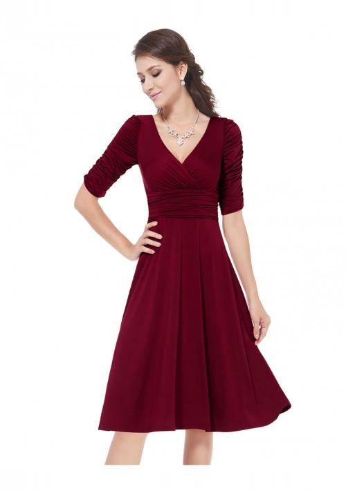 Abiballkleid in Bordeaux Rot - günstig bestellen bei VIP Dress