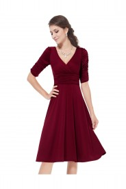 Abiballkleid in Bordeaux Rot
