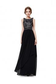 Langes elegantes Abendkleid mit stilvollen Charme in Schwarz