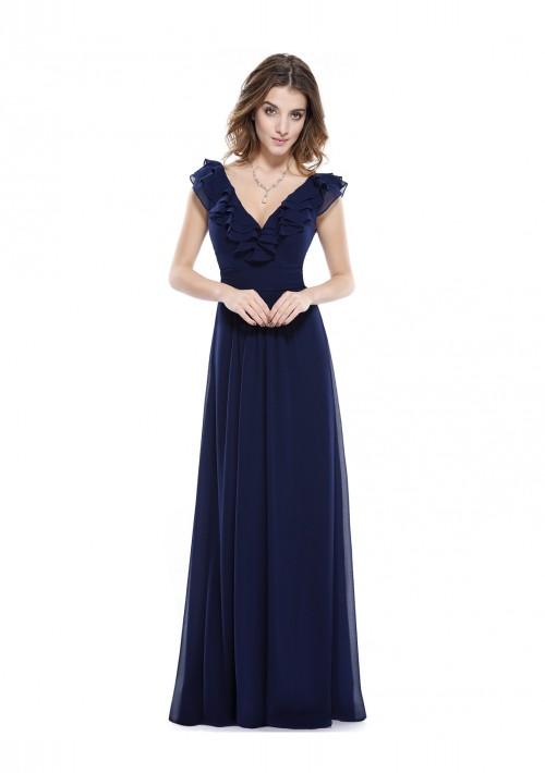 Langes Abendkleid für stilvolle Anlässe in Blau - günstig kaufen bei vipdress.de