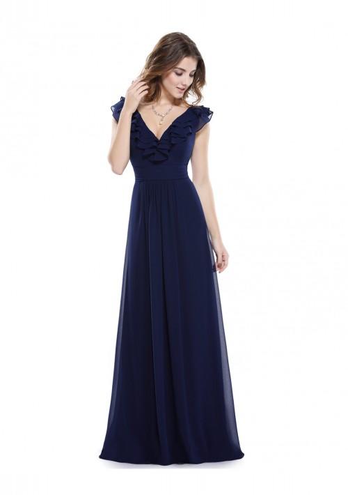 Langes Abendkleid für stilvolle Anlässe in Blau - günstig bestellen bei VIP Dress