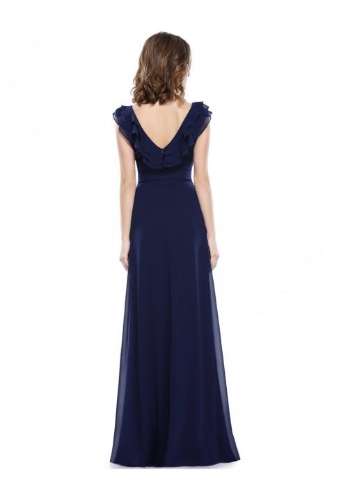 Langes Abendkleid für stilvolle Anlässe in Blau - günstig bei VIP Dress