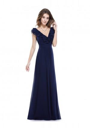 Langes Abendkleid für stilvolle Anlässe in Blau - hier günstig online bestellen