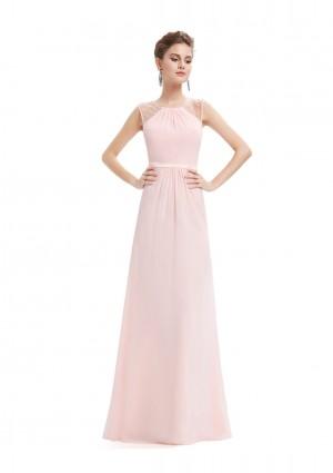 Langes, ärmelloses Abendkleid in romantischen Rosa - günstig kaufen bei vipdress.de
