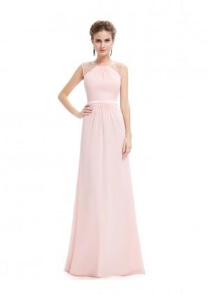 Langes, ärmelloses Abendkleid in romantischen Rosa -