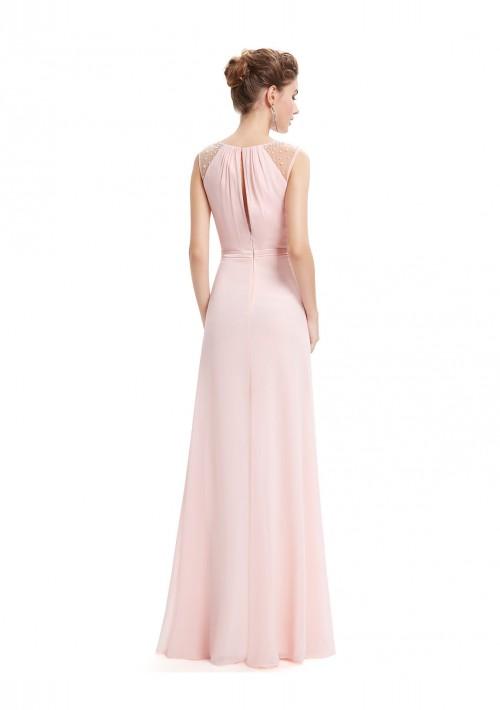 Langes, ärmelloses Abendkleid in romantischen Rosa - günstig bestellen bei VIP Dress