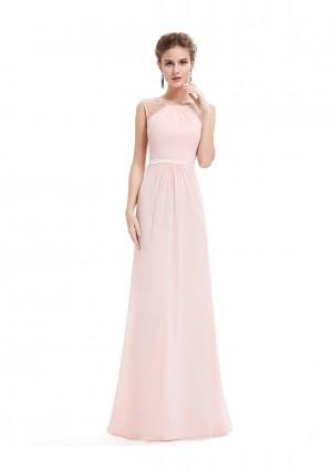 Langes, ärmelloses Abendkleid in romantischen Rosa - bei VIP Dress günstig kaufen