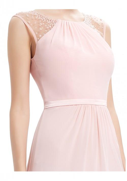 Langes, ärmelloses Abendkleid in romantischen Rosa - bei VIP Dress online bestellen