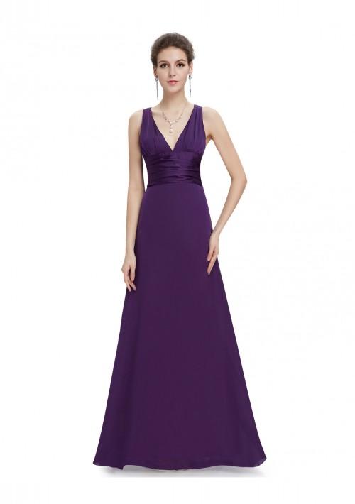 Langes Abendkleid in Lila - hier günstig online bestellen