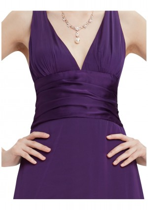 Langes Abendkleid in Lila - günstig bestellen bei VIP Dress