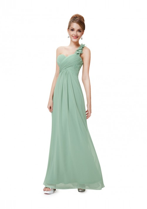 One Shoulder Abendkleid in Mintgrün - schnell und günstig bei VIP Dress
