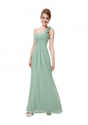 One Shoulder Abendkleid in Mintgrün - hier günstig online bestellen