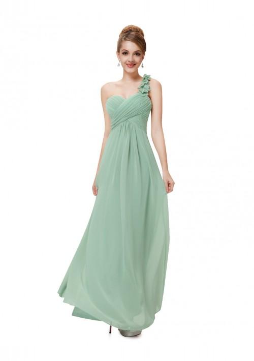 One Shoulder Abendkleid in Mintgrün - bei VIP Dress online bestellen