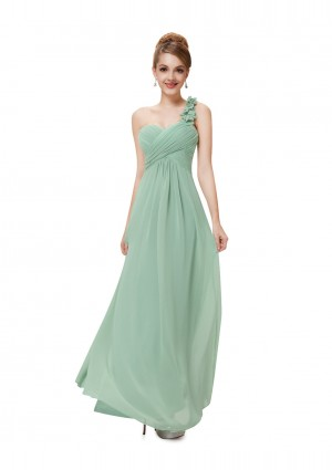 One Shoulder Abendkleid in Mintgrün - günstig bei VIP Dress