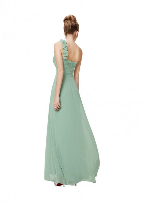 One Shoulder Abendkleid in Mintgrün - bei VIP Dress günstig kaufen