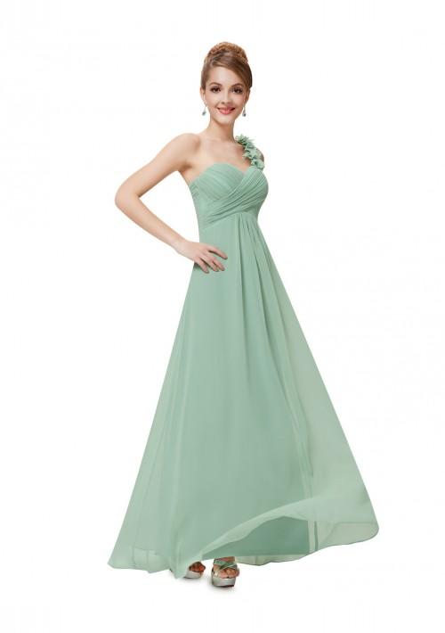 One Shoulder Abendkleid in Mintgrün - online bestellen bei vipdress.de