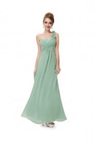 One Shoulder Abendkleid in Mintgrün