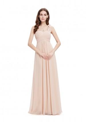 Langes Abendkleid in Nude - bei VIP Dress online bestellen